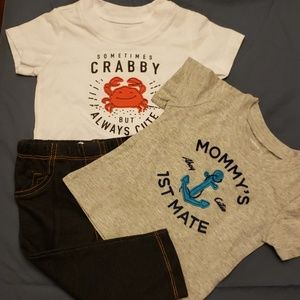 Lot of baby boy clothes 2 shirts 1 pair of jeans